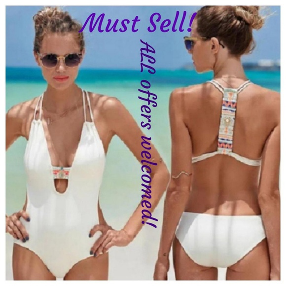 9ec4e5857f29e0 Swim | Must Sell Bright Accents Unikini | Poshmark
